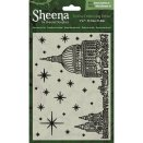 Sheena Douglass 5X7 Festive Embossing Folder - Stars Over the City