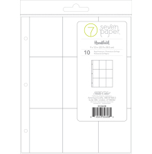 Seven Paper Page Protectors 9X12 - 3X4 Pockets