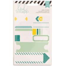 Heidi Swapp Stickers Word Jumbles - Labels/Teal UTGÅENDE