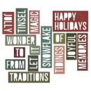 Tim Holtz Thinlits Die Set 16PK - Holiday Words 2 Block