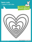 Lawn Fawn Custom Craft Die - Heart Stackables