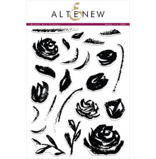 Altenew Layering Clear Stamps 6X8 23/Pkg - Brush Art Floral