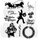 Tim Holtz Cling Rubber Stamp Set - Mini Holidays #5
