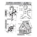 Tim Holtz Cling Rubber Stamp Set - Christmas Blueprints #3