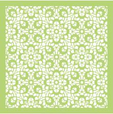 Kaisercraft Designer Template 12X12 - Cottage Rose Floral Lace