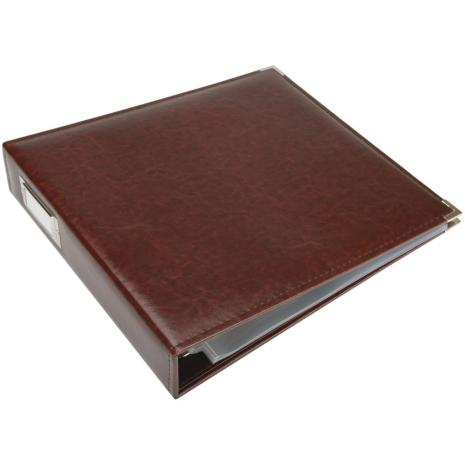 We R Memory Keepers Faux Leather 3-Ring Binder 12X12 - Cinnamon