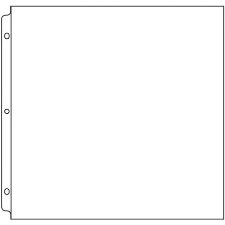 We R Memory Keepers Ring Page Protectors 12X12 50/Pkg