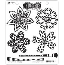 Dylusions Cling Stamp 6/Pkg - Doodle Blooms