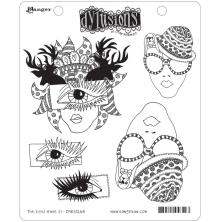 Dylusions Cling Stamp 5/Pkg - The Eyes Have It