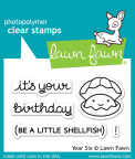 Lawn Fawn Clear Stamps 3X2 - Year Six