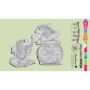 Stampendous House Mouse Cling Stamp 4X6 - Pepper Power