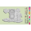 Stampendous House Mouse Cling Stamp 4X6 - Sweet Workout