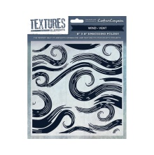 Crafters Companion Textures Elements 8x8 Embossing Folder - Wind UTGÅENDE