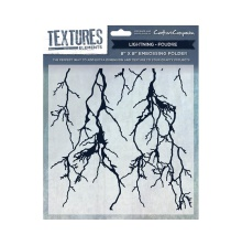 Crafters Companion Textures Elements 8x8 Embossing Folder - Lightning UTGÅENDE
