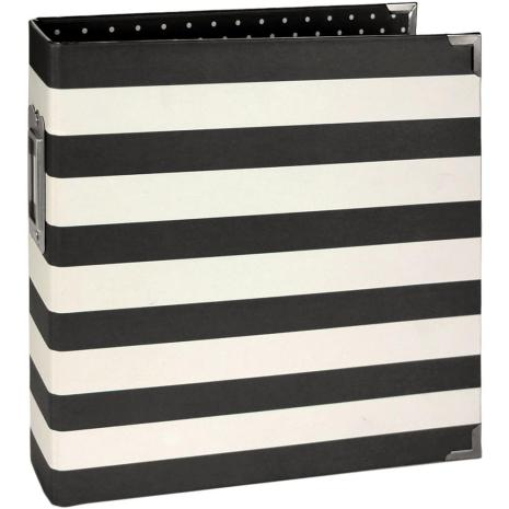 Simple Stories Snap Designer Binder 6X8 - Black Stripe