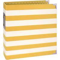 Simple Stories Snap Designer Binder 6X8 - Yellow Stripe
