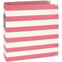 Simple Stories Snap Designer Binder 6X8 - Pink Stripe