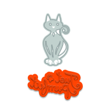 Tonic Studios Rococo Petite Pampered Pets Die & Stamp Set - Just Purrrfect
