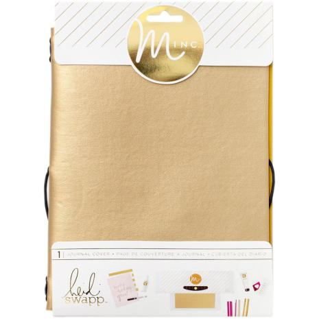 Heidi Swapp Minc Journal Cover 6X9 - Gold Vinyl