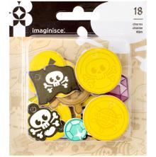 Imaginisce Par-r-rty Me Hearty Die-Cut Foam Charm Shapes 18/Pkg - Pirate UTGÅEND