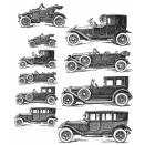 Tim Holtz Cling Rubber Stamp Set 7X8.5 - Vintage Auto