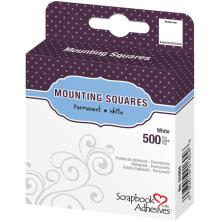 3L Permanent Mounting Squares 500/Pkg