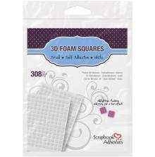 Scrapbook Adhesives 3L 3D Self-Adhesive Foam Squares 308/Pkg - White Mini