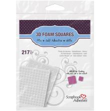 Scrapbook Adhesives 3L 3D Self-Adhesive Foam Squares 217/Pkg - White Mixed