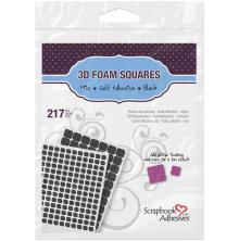 Scrapbook Adhesives 3L 3D Self-Adhesive Foam Squares 217/Pkg - Black Mixed