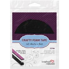 Scrapbook Adhesives 3L Crafty Foam Tape Roll 4m - Black