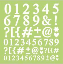 Kaisercraft Designer Template 12X12 - Numbers & Punctuation