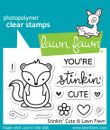 Lawn Fawn Clear Stamps 3X2 - Stinkin Cute