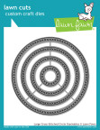 Lawn Fawn Custom Craft Die - Large Cross Stitched Circle Stackables