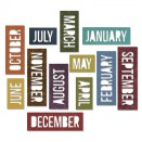 Tim Holtz Sizzix Thinlits Dies 12/Pkg - Block Calendar Words