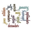 Tim Holtz Sizzix Thinlits Dies 12/Pkg - Calendar Words Script