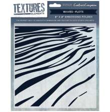 Crafters Companion Textures Elements 8x8 Embossing Folder - Waves UTGÅENDE