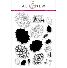 Altenew Layering Clear Stamps 6X8 18/Pkg - Dahlia Blossoms