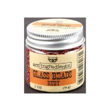 Prima Finnabair Art Ingredients Glass Beads 56gr - Ruby