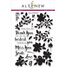 Altenew Layering Clear Stamps 6X8 22/Pkg - Floral Shadow