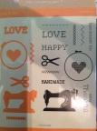 Diamond Press Stamp and Die Set - Handmade Love