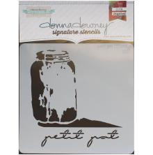 Donna Downey Signature Stencils 8.5X8.5 - Petit Pot