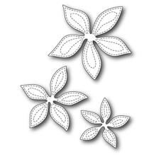 Memory Box Poppystamp Die - Stitched Poinsettia Trio