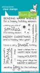Lawn Fawn Clear Stamps 4X6 - Merry Messages