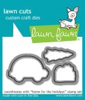 Lawn Fawn Custom Craft Die - Home For The Holidays