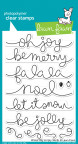 Lawn Fawn Clear Stamps 4X6 - Winter Big Scripty Words