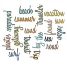Tim Holtz Sizzix Thinlits Die Set 18/Pkg - Vacation Words Script