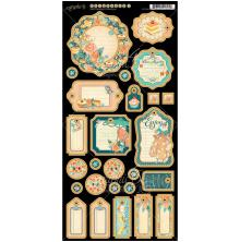 Graphic 45 Chipboard Die-Cuts 6X12 Journaling - Cafe Parisian