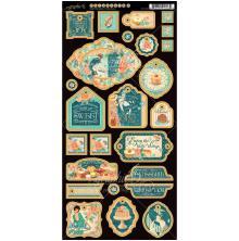 Graphic 45 Chipboard Die-Cuts 6X12 2/Pkg - Cafe Parisian Decorative