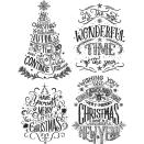 Tim Holtz Cling Stamps 7X8.5 - Doodle Greetings 2