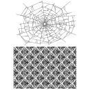 Tim Holtz Cling Stamps 7X8.5 - Webs & Damask